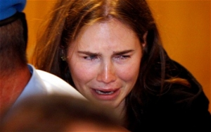 Amanda Knox after verdict read