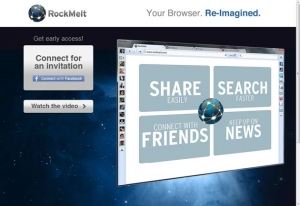 RockMelt site screenshot