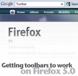 Firefox 5.0 with working toolbar
