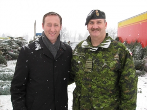 Minister of Defence, Peter MacKay with Col Gregory Burt (Archive Photo)