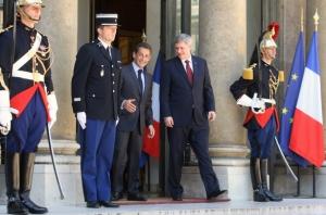 Harper and Sarkozy