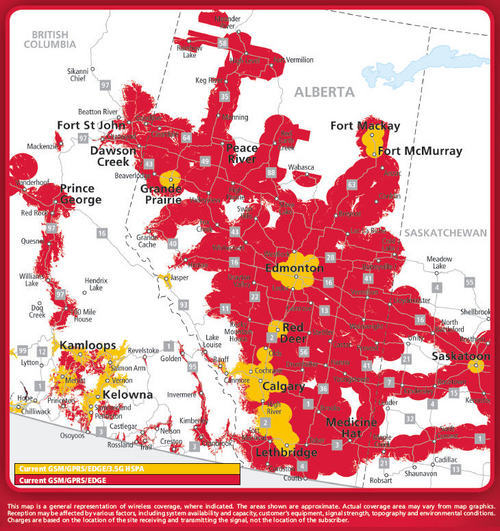 Rogers Wireless coverage in Alberta