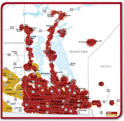 Rogers Wireless coverage in Manitoba