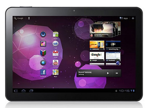Screenshot of the Galaxy Tab 10.1, a tablet running Honeycomb with improved reviews vs. older android tablets
