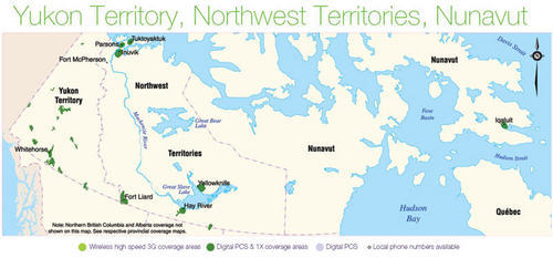 Telus coverage in The Territories (the North)